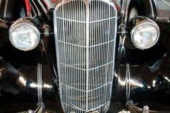 Retro automobile nera Fotografia Stock Libera da Diritti