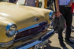 Retro automobile sovietica GAZ-21 Fotografia Stock