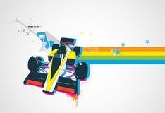 Retro automobile sportiva divertente Fotografia Stock Libera da Diritti