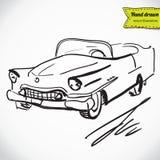 Retro automobile su fondo bianco, illustrazione di vettore Illustrazione Vettoriale