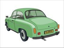 Retro automobile verde Fotografia Stock Libera da Diritti