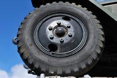 Retro automobile wheel Stock Images