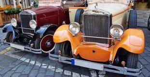 Retro automobili Immagine Stock