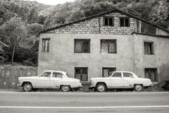 Retro automobili sovietiche Volga GAZ-21 Fotografie Stock