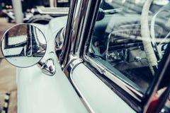 Retro- Autonahaufnahme des Teils Schöne Arttransportausstellung Stockfotos
