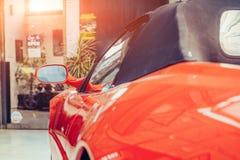 Retro- Autonahaufnahme des Teils Schöne Ausstellung Lizenzfreie Stockbilder