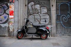 Retro Autoped in Madrid Stock Afbeelding