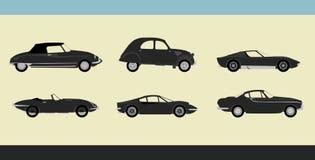 Retro- Autos lizenzfreie abbildung