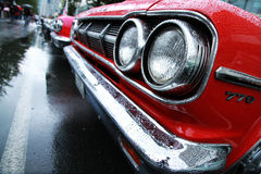 Retro- Autos. Cooly-Felsen auf Festival Lizenzfreies Stockbild