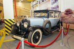 Retro autotentoongesteld voorwerp van het historische Museum, Rusland, Ekaterinburg, 04 03 2017 Jaar Stock Foto's