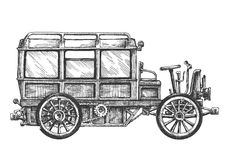 Retro- Autovektorlogo-Designschablone Fahrzeug oder Lizenzfreie Stockfotografie