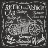 Retro- Autovektorlogo-Designschablone Fahrzeug oder Stockbild