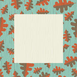 Retro autumn frame with oak leaf pattern Royalty Free Stock Images