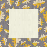 Retro autumn frame with oak leaf pattern Royalty Free Stock Photo