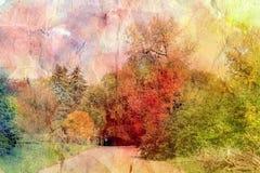Retro autumn landscape Stock Photography