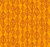 Retro autumn leaves backgrounds Stock Images