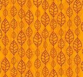 Retro autumn leaves backgrounds. Autumn orange retro backgrounds with leaves in rows Stock Images