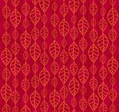 Retro autumn leaves backgrounds. Autumn red and orange retro backgrounds with leaves Stock Photos