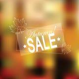 Retro Autumn Sale för vektor typografi Arkivfoto
