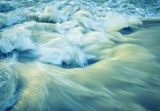 Retro autumn wave rapid river Stock Photos