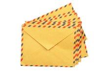 Retro avia mail envelope. Isolated on white background Stock Image