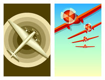 Retro aviation. Travel posters with copy-space Royalty Free Stock Image