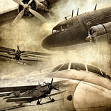 Retro aviation. Abstract grunge background Royalty Free Stock Photos