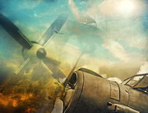 Retro aviation. Abstract grunge background Stock Photos