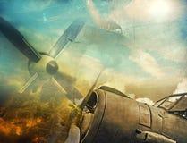 Retro aviation. Abstract grunge background stock illustration