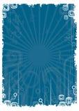 Retro azul Fotografia de Stock