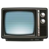 Retro azzurro della TV Fotografia Stock Libera da Diritti