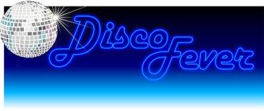 Retro azzurro di febbre della discoteca royalty illustrazione gratis