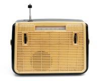 Retro bärbar radio Arkivbild