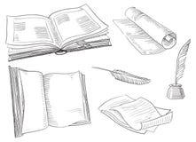 Retro- Bücher Lizenzfreie Stockfotos