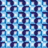 Retro błękitny abstrakcjonistyczny tło wzór Obrazy Royalty Free