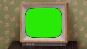 Retro b&w TV set Royalty Free Stock Image