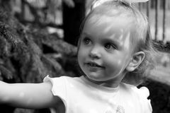 Retro baby Royalty Free Stock Images