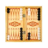 Retro Backgammon Game Stock Images