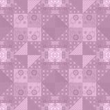 Retro backgrou floreale a quadretti del modello di struttura del tessuto della rappezzatura Fotografie Stock