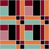 Retro backgroun för abstrakt modern sömlös modelltextur för fyrkanter Arkivfoton