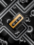 Retro background. Abstract vector retro background with audio cassette Stock Photos