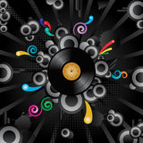 Retro background. Abstract vector retro background with the vinyl disc Stock Images