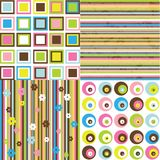 Retro background. Four different pattern Royalty Free Stock Image