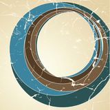 Retro background. Retro stylized background with blue and brown circles Stock Photo