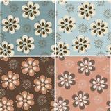 Retro background. Set of retro stylized seamless patterns Vector Illustration