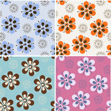 Retro background. Set of retro stylized seamless patterns Royalty Free Stock Images