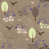 Retro background. Retro stylized seamless floral pattern stock illustration