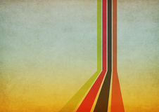 Retro background. With four color lines Stock Images