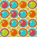 Retro Background. Bright colorful seamless Retro Background royalty free illustration