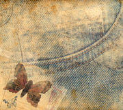Retro background. With vintage butterfly royalty free stock images